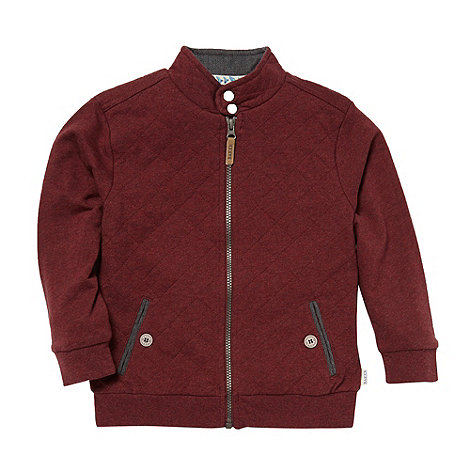 Baker by Ted Baker - Boy+s red quilted sweat jacket