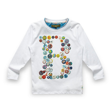 Baker by Ted Baker - Boy+s white badge t-shirt