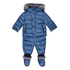 Baker by Ted Baker - Baby boys' blue three piece snowsuit