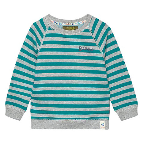 Baker by Ted Baker - Boy+s green striped crew sweater