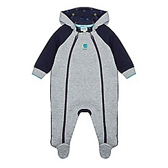 Baker by Ted Baker - Baby boys' grey quilted snugglesuit