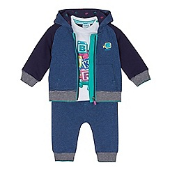 Baker by Ted Baker - Baby boys' multi-coloured hooded jacket, t-shirt and jogging bottoms set