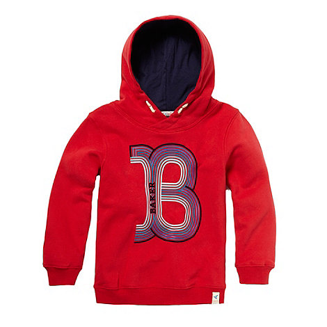 Baker by Ted Baker - Boy+s red graphic sweat hoodie