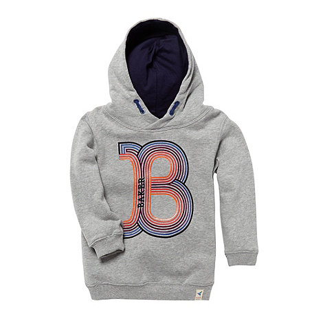 Baker by Ted Baker - Boy+s grey printed sweat hoodie