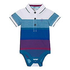 Baker by Ted Baker - Baby boys' multi-coloured striped polo bodysuit