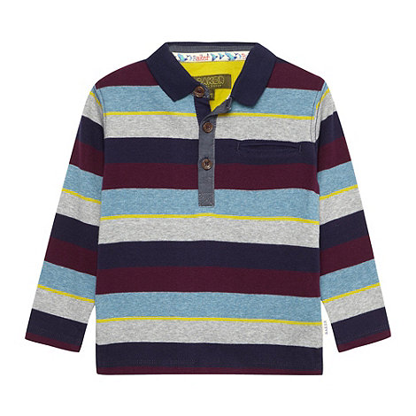 Baker by Ted Baker - Boy+s multi long sleeved striped polo top