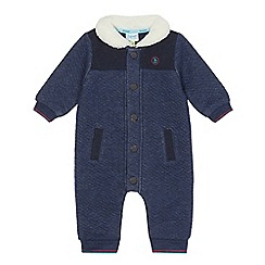 Baker by Ted Baker - Baby boys' navy quilted snuggle suit
