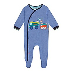 Baker by Ted Baker - Baby boys' blue vehicle applique sleepsuit