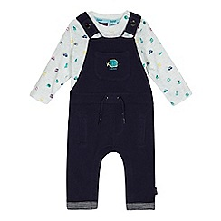 Baker by Ted Baker - Baby boys' multi-coloured dungarees and long sleeve top set