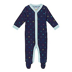 Baker by Ted Baker - Baby boys' navy printed sleepsuit