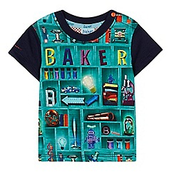 Baker by Ted Baker - Baby boys' multi-coloured bookshelf print t-shirt