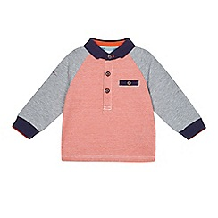 Baker by Ted Baker - Baby boys' orange stripe print long sleeve polo shirt
