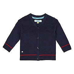 Baker by Ted Baker - Baby boys' navy ribbed cardigan