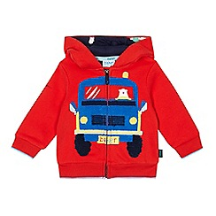 Baker by Ted Baker - Baby boys' red truck boucle sweater