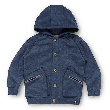 Baker by Ted Baker - Boy+s blue button through hoodie