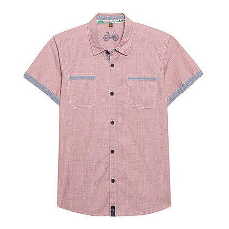 Baker by Ted Baker - Boy+s pink short sleeved shirt