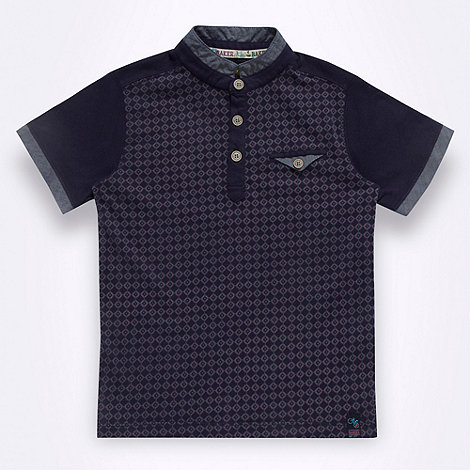 Baker by Ted Baker - Boy+s blue geo polo shirt