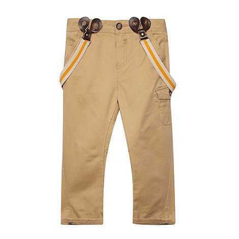 Baker by Ted Baker - Boy+s light tan chinos with braces