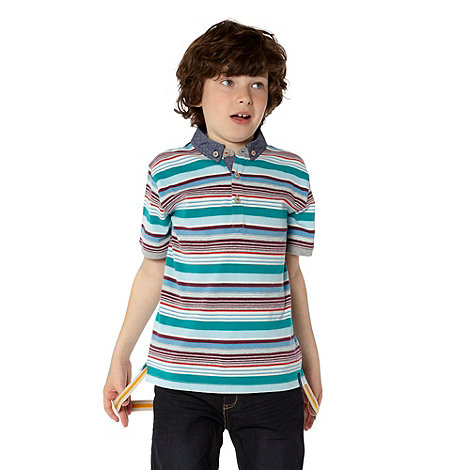 Baker by Ted Baker - Boy+s multi striped polo top