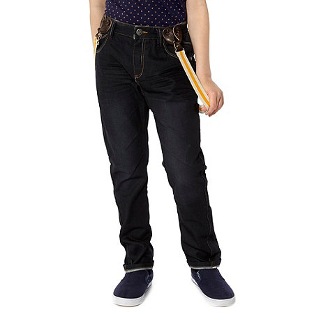 Baker by Ted Baker - Boy+s blue jeans with braces