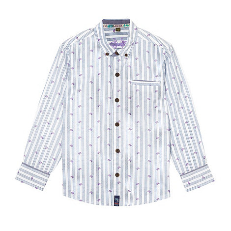 Baker by Ted Baker - Boy+s blue dog printed shirt
