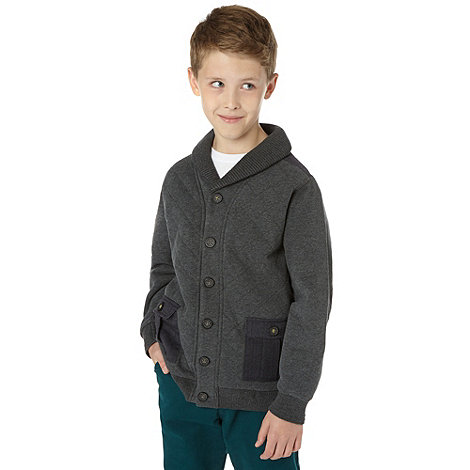Baker by Ted Baker - Boy+s grey quilted sweat cardigan