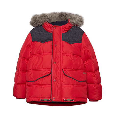 Baker by Ted Baker - Boy+s red quilted jacket
