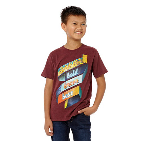 Baker by Ted Baker - Boy+s red printed t-shirt