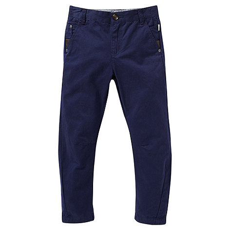Baker by Ted Baker - Boy+s navy peg leg chinos