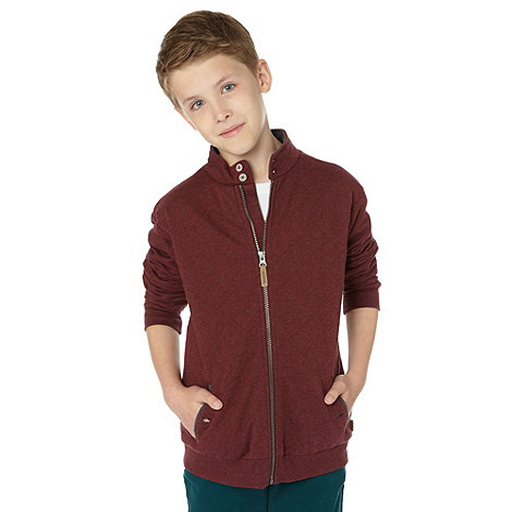 Baker by Ted Baker - Boy+s wine red quilted sweat jacket