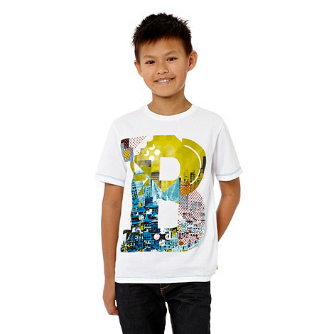Baker by Ted Baker - Boy's white logo printed t-shirt