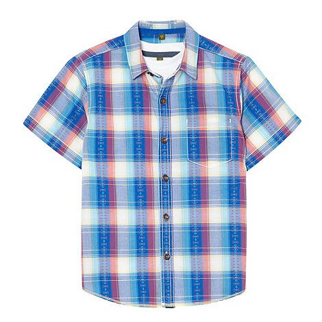 Baker by Ted Baker - Boy+s blue checked shirt with tee