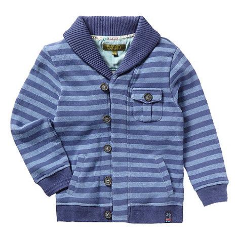 Baker by Ted Baker - Boy+s blue striped jersey cardigan