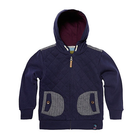 Baker by Ted Baker - Boy+s navy four pocket hooded sweat