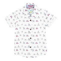 Baker by Ted Baker - Boys' white bicycle print shirt