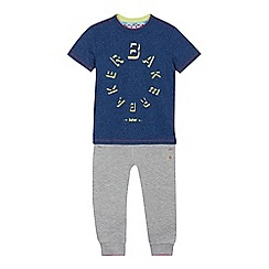 Baker by Ted Baker - Boys' multi-coloured logo print t-shirt and jogging bottoms set