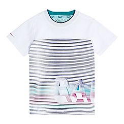 Baker by Ted Baker - Boys' white striped graphic logo print t-shirt