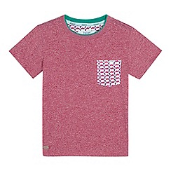 Baker by Ted Baker - Boys' red chest pocket t-shirt