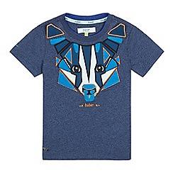 Baker by Ted Baker - Boys' navy badger applique t-shirt
