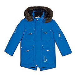 Baker by Ted Baker - Boys' blue fleece lined parka