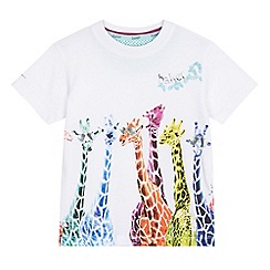 Baker by Ted Baker - Boys' white giraffe print t-shirt