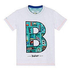 Baker by Ted Baker - Boys' white logo applique t-shirt
