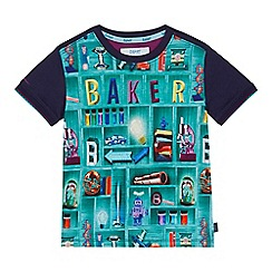 Baker by Ted Baker - Boys' multi-coloured bookshelf print t-shirt