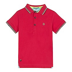 Baker by Ted Baker - Boys' bright pink tipped polo shirt
