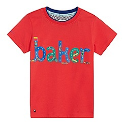 Baker by Ted Baker - Boys' orange brand print t-shirt