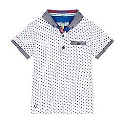 Baker by Ted Baker - Boys' white geometric print polo shirt