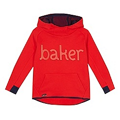 Baker by Ted Baker - Boys' red logo applique hoodie