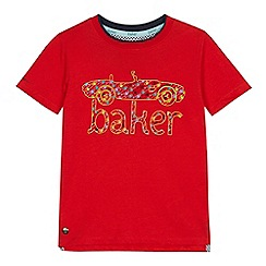 Baker by Ted Baker - Boys' red car logo print t-shirt