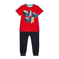 Baker by Ted Baker - Boys' red logo print top and bottoms set