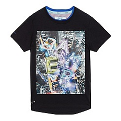 Baker by Ted Baker - Boys' black longline t-shirt
